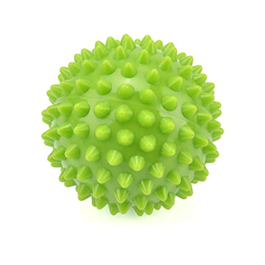 ミキサーコットンレビュアーとがったローラーボール筋肉リラクゼーションマッサージボール、足底筋膜炎/トリガーポイント/深部組織/筋筋膜リリース8.5CmのためのエクササイズヨガPVCラクロスボール,Green