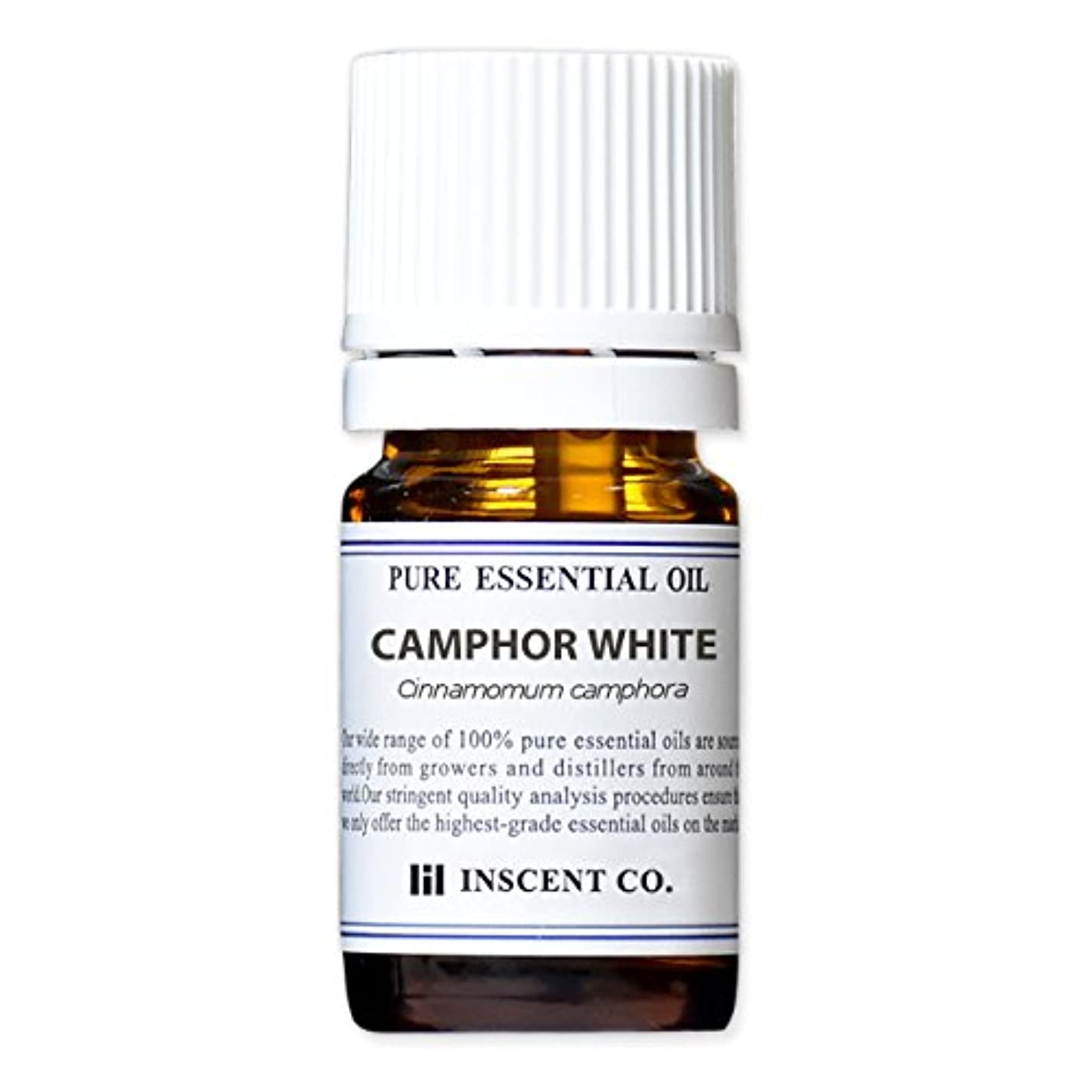 カンファー (ホワイト) 5ml インセント アロマオイル AEAJ 表示基準適合認定精油
