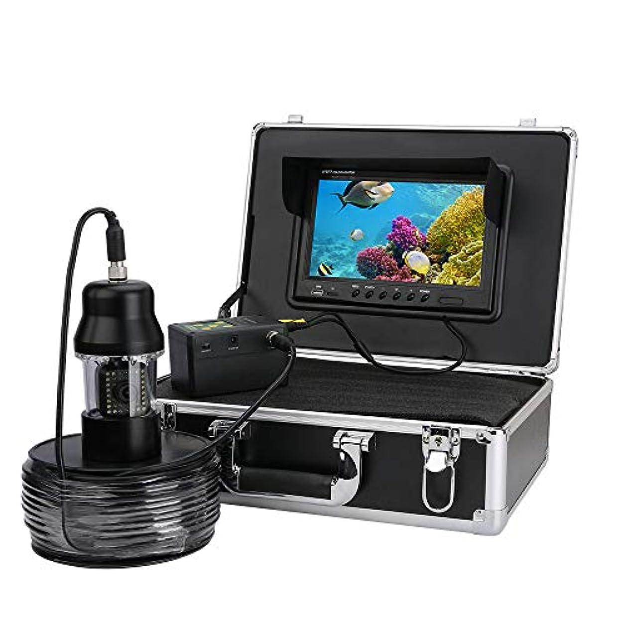 本土精度魅力的であることへのアピール9インチDVRレコーダー100メートル水中釣りビデオカメラ魚群探知機IP68防水38 leds 360度回転カメラ