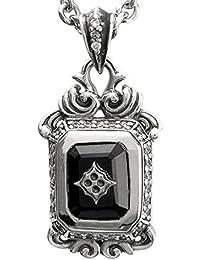 [アルテミスクラシック]Artemis Classic クワトロフォイル オニキス シルバー 925 ネックレス メンズ 人気 ブランド 四つ葉 ジルコニア