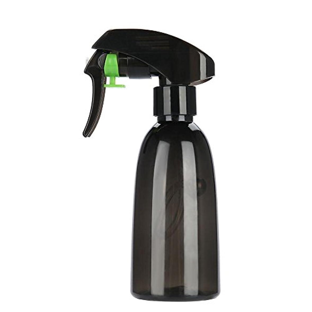 粘り強いセント傀儡水スプレー、2色詰め替え式プラスチック理髪スプレーボトル水スプレーサロン理容ツール(ダークグリーン)