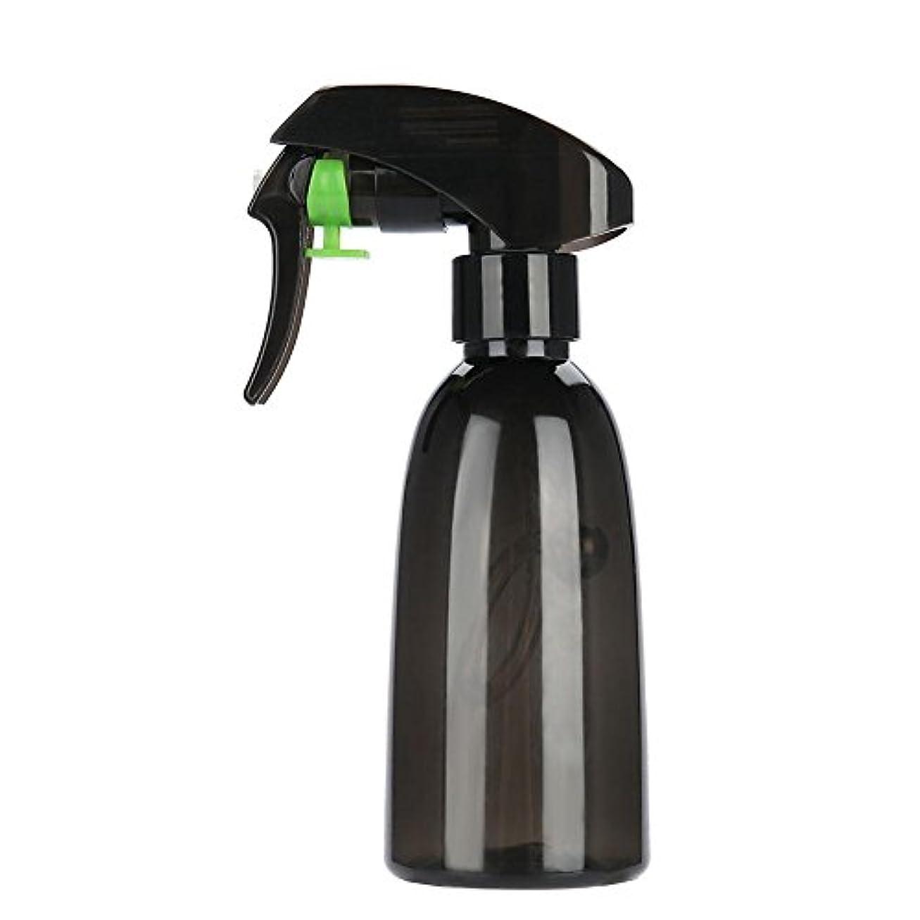 干ばつ騒ぎ長さ水スプレー、2色詰め替え式プラスチック理髪スプレーボトル水スプレーサロン理容ツール(ダークグリーン)