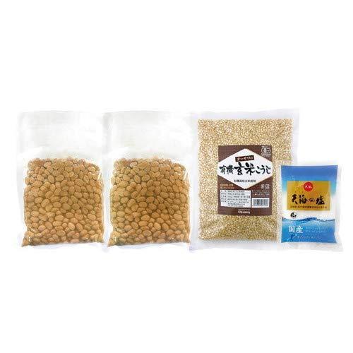 オーサワの手づくり玄米味噌セット(樽なし) (1セット(煮大豆・麹・塩))