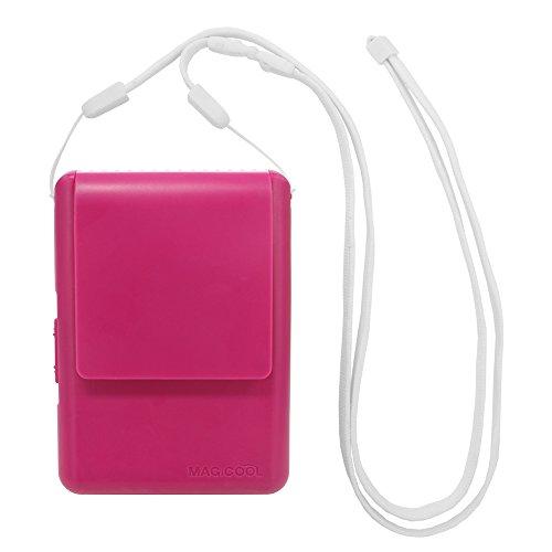 携帯型(首かけ)扇風機 マイファンモバイル(ラズベリーピンク)首もとに送風 熱中症・暑さ対策(通勤通学・オフィス・野外活動・他) DOCMFMD1RP