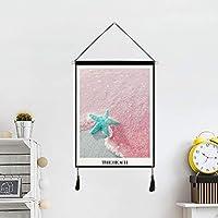DUOLUO ピンクの貝ヒトデぶら下げ絵画生地吊り装飾絵画ラフ DUOLUO (Size : B)