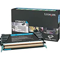 Lexmark c736h1cg c736h1cg大容量トナー、10000ページ印刷可、シアン