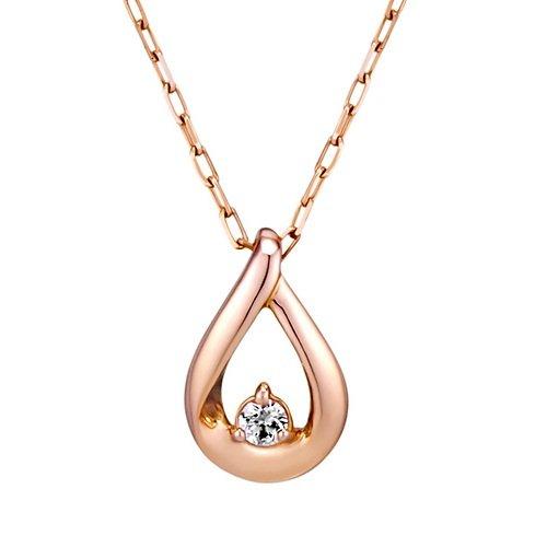 4℃(ヨンドシー)ダイヤモンドK10ピンクゴールド(PG)ネックレス 111636123114