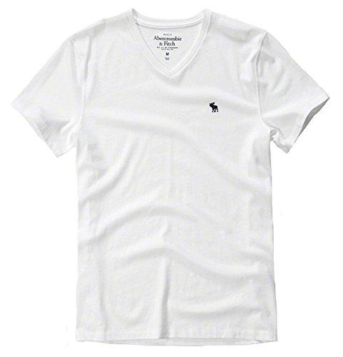 (アバクロ)Tシャツ 半袖 メンズ 無地 薄手 ワンポイント 124-allb 正規 abercrombie & fitch[M×006white(Vネック)] [並行輸入品]