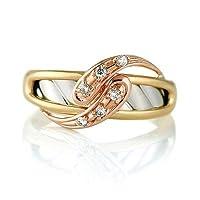 (スエヒロ)SUEHIRO リング ダイヤモンド プラチナ K18 ピンク ゴールド イエローゴールド 18金 ダイヤ コンビ ユニーク 8