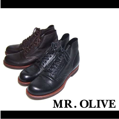 【MROLIVE(ミスターオリーブ)】ウォータープルーフレザーハンティングブーツ 9 1/2(L)サイズ ブラウン