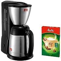 【セット品】メリタ(Mellita) コーヒーメーカー ノア NOAR SKT54-1-B ブラック & コーヒーフィルター アロマジック ナチュラルブラウン1×2