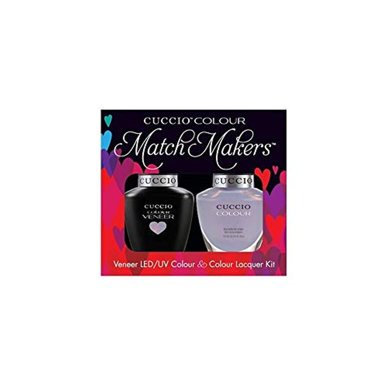 神経障害カーペット曲線Cuccio MatchMakers Veneer & Lacquer - Message in a Bottle - 0.43oz / 13ml Each