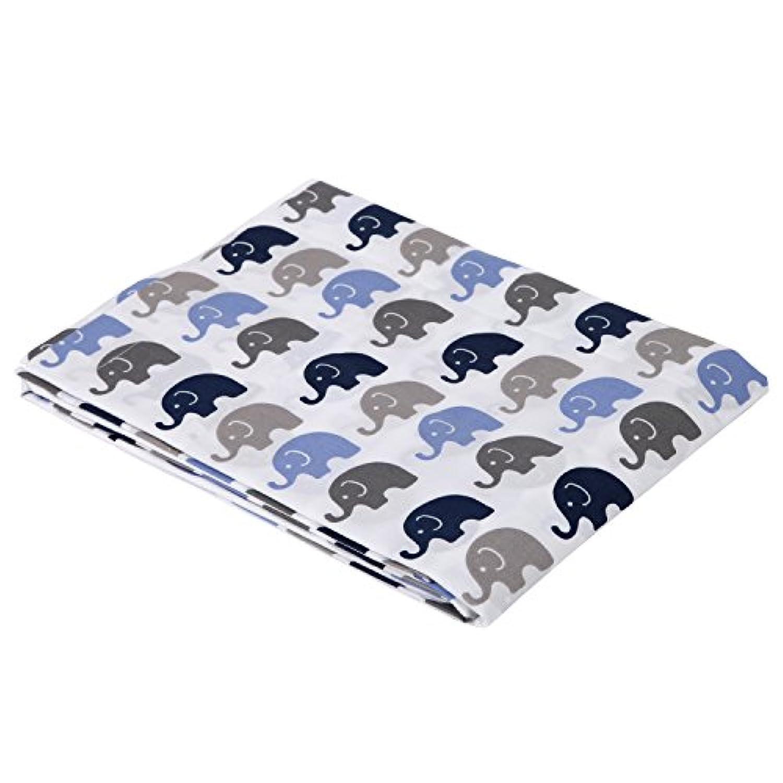 Elephants Blue/Grey Mini Elephants Crib fitted sheet by Bacati