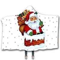 フード付き毛布クリスマス毛布ファイバービーチブランケットのマットのショール ハロウィーンのクリスマスプレゼント,D,150cm*200cm
