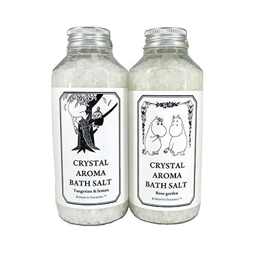 【ムーミン】アロマバスソルト セットB タンジェリン&レモンの香り?ローズガーデンの香り