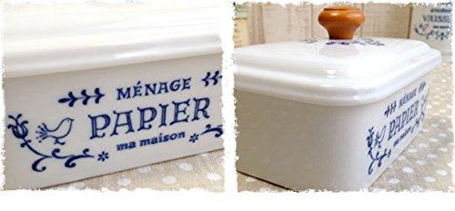 【フレンチカントリーアンティーク風雑貨】ロハスな磁器、収納、保存に便利!キュジーヌシリーズ お掃除シート入れ
