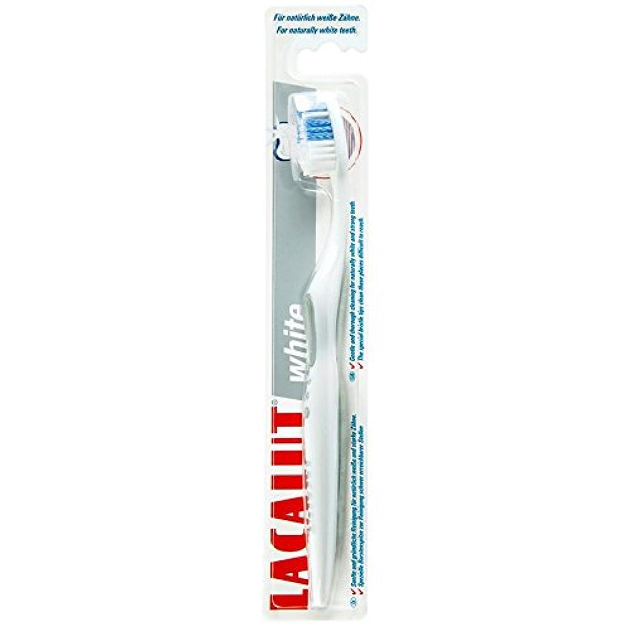 フォージ飾り羽代理店6本セット Lacalut white toothbrush 歯ブラシ【並行輸入品】