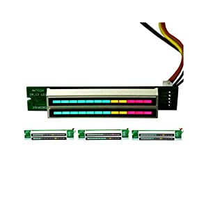 ステレオレベルインジケータVUメーターランプ アンプオーディオDIY調節可能なライトスピードボード With AGCモードデュアル12 digit