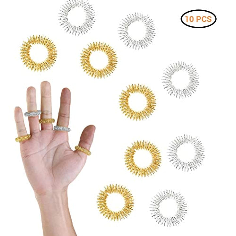 不合格ひばり有益Creacom マッサージ指輪 リング 10点セット 爪もみリング 血液循環促進 ストレス解消 リリース 筋肉緊張和らげ 携帯便利 使用簡単 お年寄り 男女兼用 プレゼント