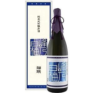 峰乃白梅 純米大吟醸原酒 瑠璃 化粧箱入り 1800ml [新潟県]