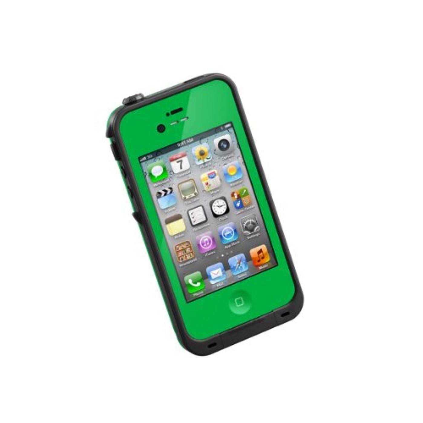 アンペア振動させるクラウン【日本正規代理店品】iPhone4/4S用防水防塵耐衝撃ケース LifeProof Gen2 グリーン LPIPH4CS02GN