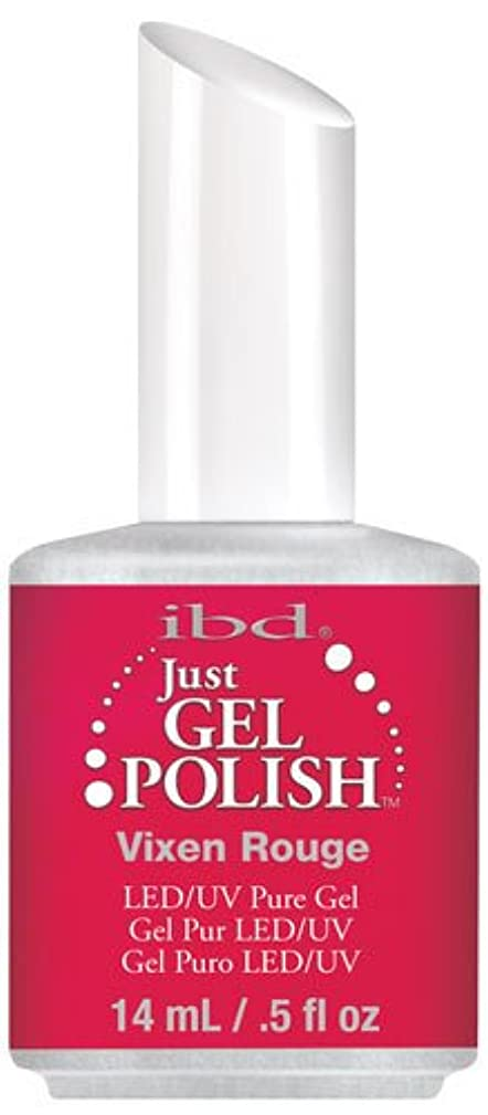 帆顕著アイザックIBD Just Gel Polish - Vixen Rouge - 0.5oz / 14ml