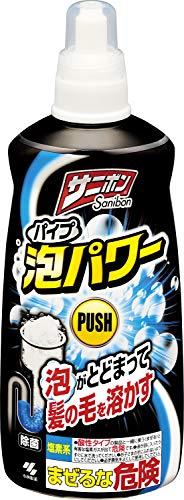 【ケース販売】小林製薬 サニボン パイプ泡パワー 排水パイプのつまりや悪臭をスッキリ解消 本体 400ml×24個
