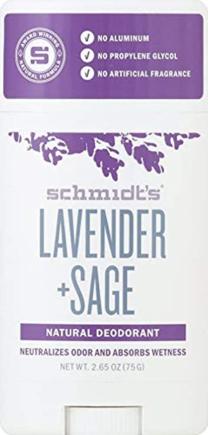 海峡ひも衝突する汚すシュミッツ Schmidt's ラベンダー + セージ ナチュラル デオドラント 2.65oz [並行輸入]