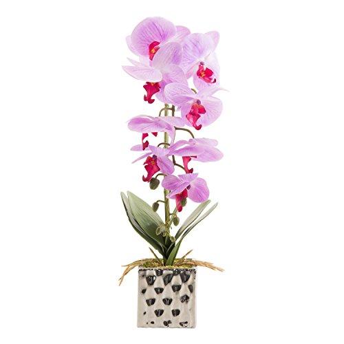花瓶付き人工胡蝶蘭アレンジメント 装飾用ランの花 盆栽 LM-002