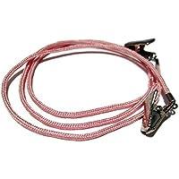 ATLanyards Light Pink Clip Eyeglass Chain, Eyeglass Strap, Glasses Cord, Clips 363