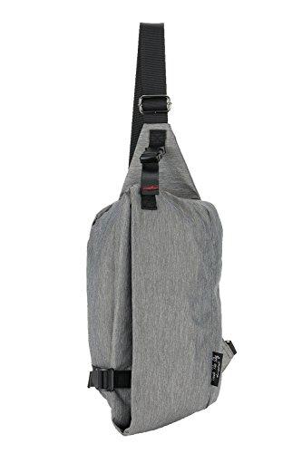 TouchTheSky 撥水 ナイロン ボディバッグ 斜めがけ 大容量 軽量 メンズ レディース Mサイズ