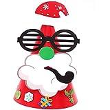 HuaQingPiJu-JP 幼稚園クリエイティブシーンの装飾Santa Smoking Pattern Hat_Red