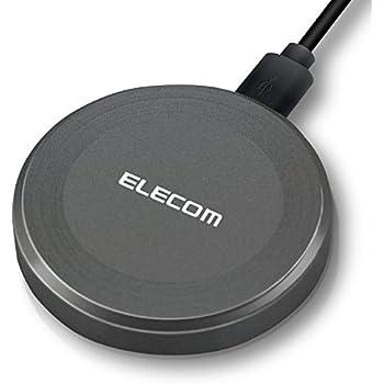 エレコム ワイヤレス 充電器 Qi [ iPhone & Galaxy & Xperia 等 対応 ] 充電スタンド 置くだけ充電 microUSB 充電 ブラック W-QA01BK