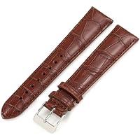 Artisan of Italy AITPD600-1420ML メンズ ドレス パッド入り マット ワニ革 20mm コニャック ロング腕時計ベルト
