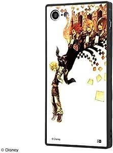 ディズニー iPhone SE(第2世代) / iPhone 8 / iPhone 7 ハイブリッド ケース カバー KAKU 耐衝撃 衝撃吸収 [ ストラップ ホール 付き 通し穴 ] スクエア 軽量 かわいい オシャレ SILK キングダムハーツ/ジャケット IQ-DP7K2B/KH002