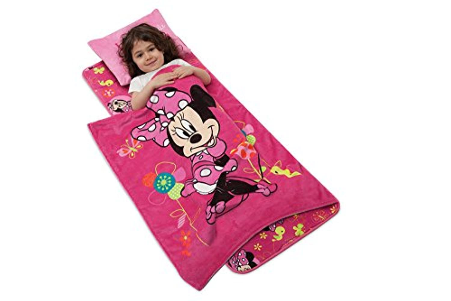 Minds In Sync Deluxe Memory Foam Nap Mat Set, Minnie Mouse/Pink [並行輸入品]