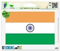 """インドインドの国旗ビニール車バンパーウィンドウステッカー Large - 10"""" x 8"""" n894C"""