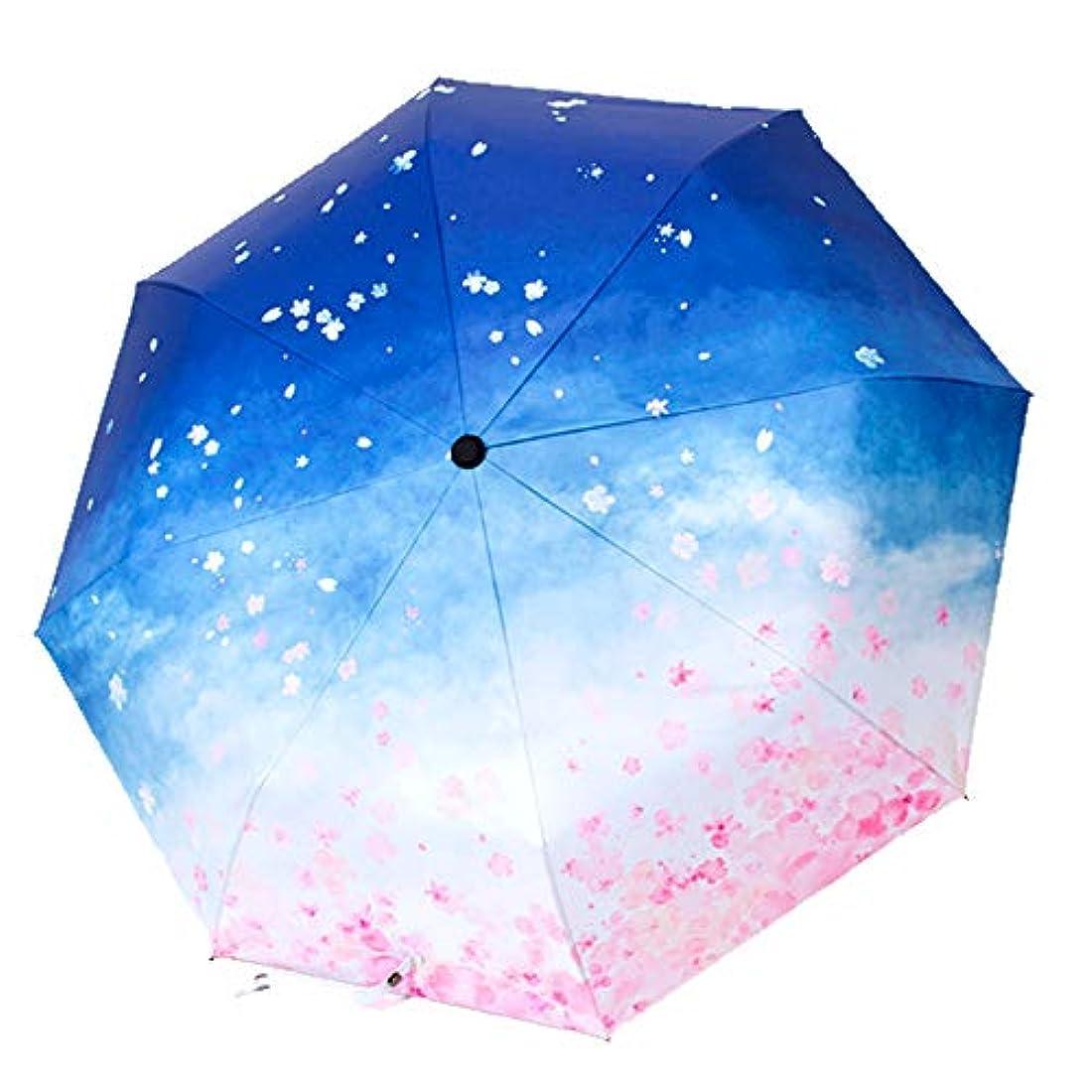精算宿る換気傘の男性と女性の雨と雨のデュアルユースマニュアル三つ折り傘