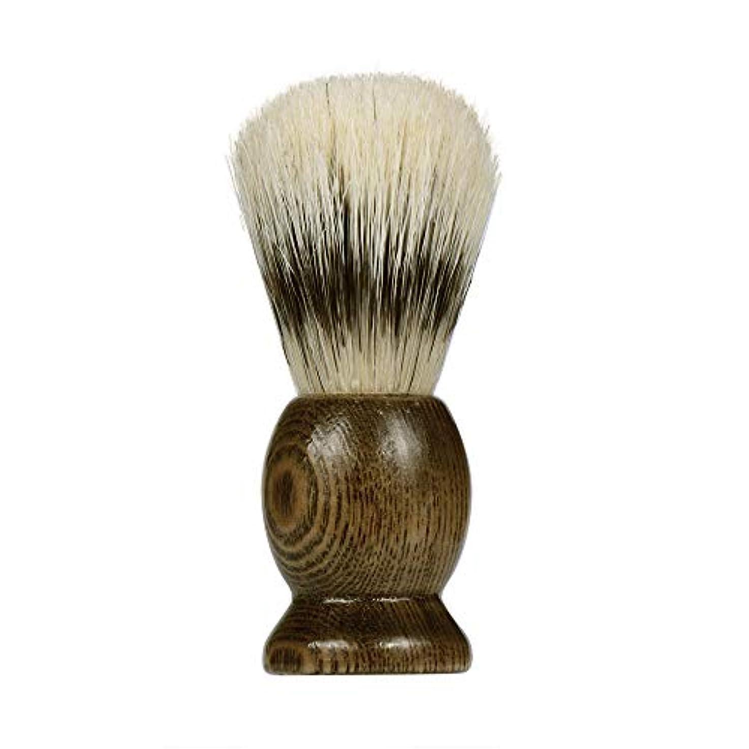 zlianhui ZYピュアアナグマヘアシェービングブラシウッドハンドルベストシェービングバーバー密に充填されたブラシヘッド理想的な保持と分散泡と柔らかさ (Brown)
