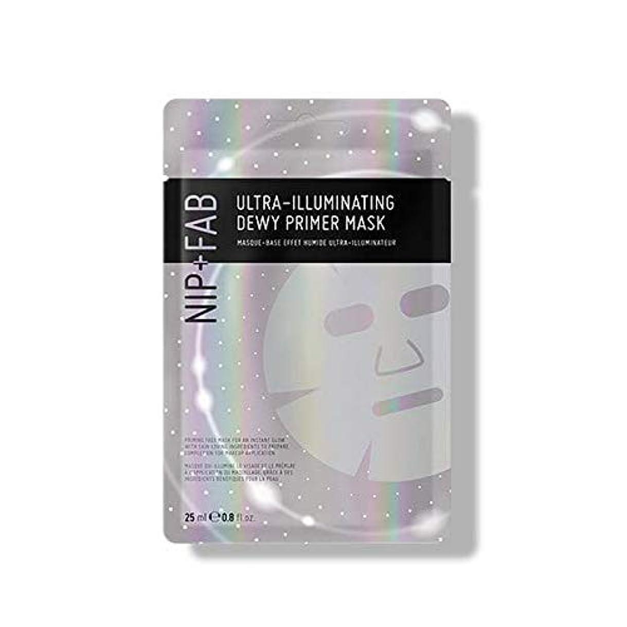 厳密に発行パッド[Nip & Fab] 超照明結露プライマーマスク25ミリリットルを作るFab +ニップ - NIP+FAB Make Up Ultra-Illuminating Dewy Primer Mask 25ml [並行輸入品]