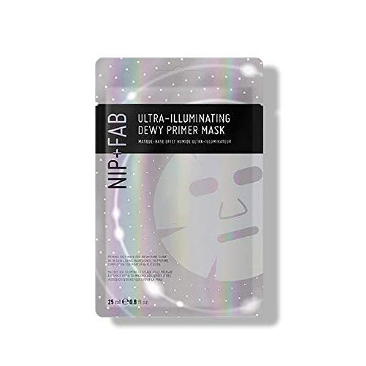 暫定の感謝祭商品[Nip & Fab] 超照明結露プライマーマスク25ミリリットルを作るFab +ニップ - NIP+FAB Make Up Ultra-Illuminating Dewy Primer Mask 25ml [並行輸入品]