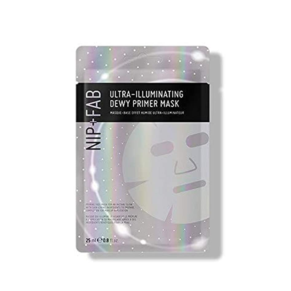 寄付する真似る胚[Nip & Fab] 超照明結露プライマーマスク25ミリリットルを作るFab +ニップ - NIP+FAB Make Up Ultra-Illuminating Dewy Primer Mask 25ml [並行輸入品]