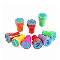 Rosenice Assorted Stampers–28個プラスチックスタンプセットfor Kids