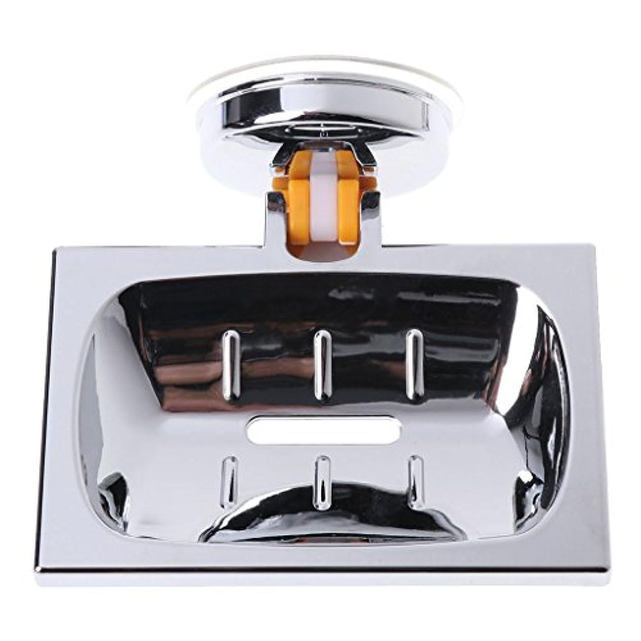 気性じゃがいも確認Lamdooウォールサクションカップバスルームバスシャワーコンテナソープディッシュホルダーケースバスケット01