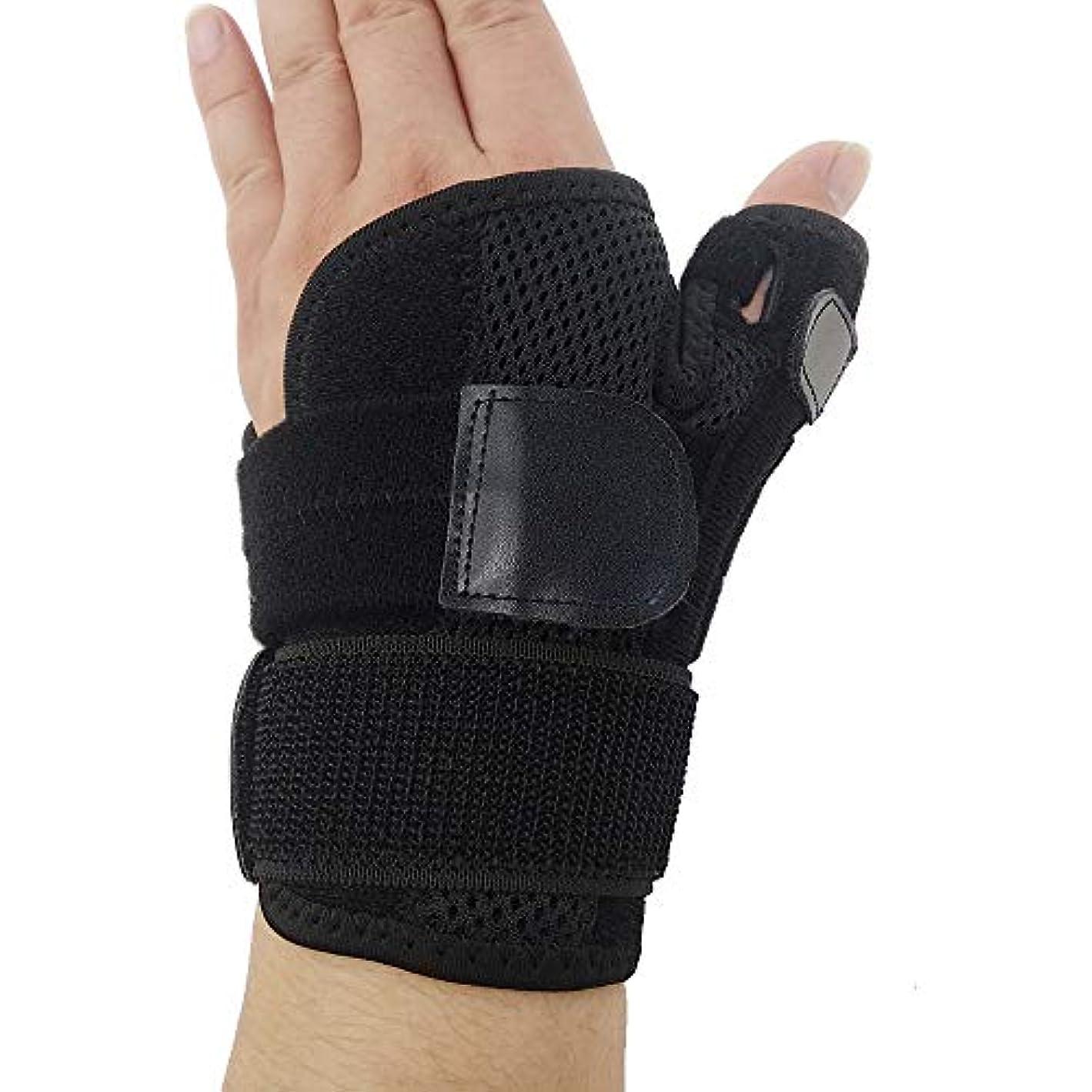 最も早い平手打ち速報ZYL-YL ブレーサー親指脊椎骨折母の手の固定具手首Heelingsスチールバーのサポートハンドスプリント (Edition : Left)