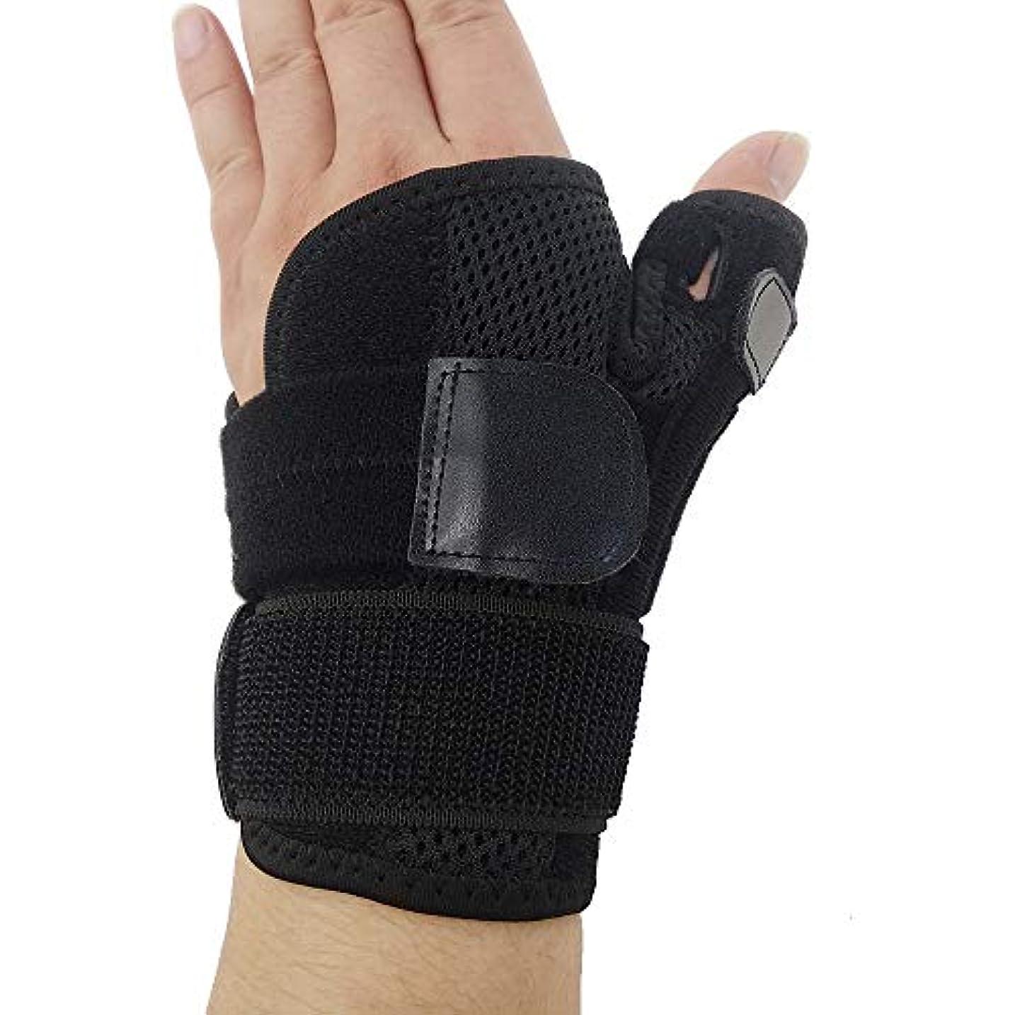 納得させる飛び込む手ZYL-YL ブレーサー親指脊椎骨折母の手の固定具手首Heelingsスチールバーのサポートハンドスプリント (Edition : Left)