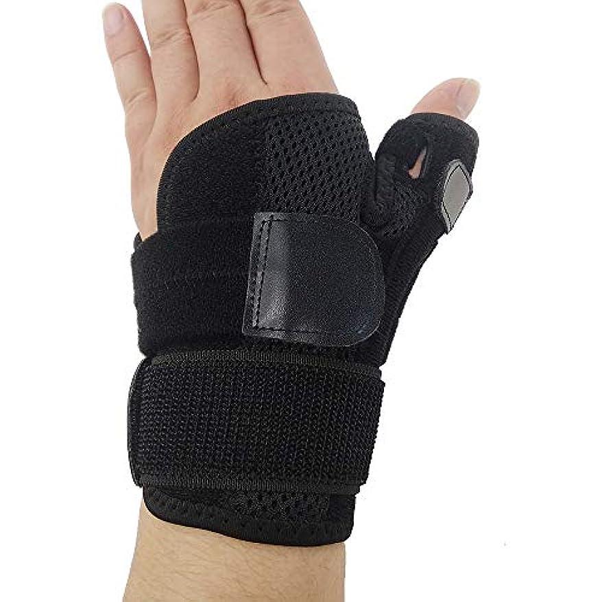 大きさ不良品感じZYL-YL ブレーサー親指脊椎骨折母の手の固定具手首Heelingsスチールバーのサポートハンドスプリント (Edition : Left)