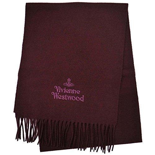 (ヴィヴィアン ウエストウッド)Vivienne Westwood マフラー 81030007 I401 ボルドー ロゴ同色刺繍 無地 男女兼用 [並行輸入品]