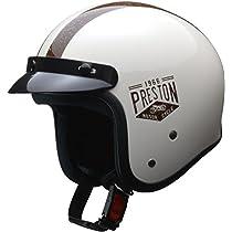リード工業(LEAD) バイク用ジェットヘルメット PRESTON (プレストン) アイボリー フリー (57-60cm未満) -