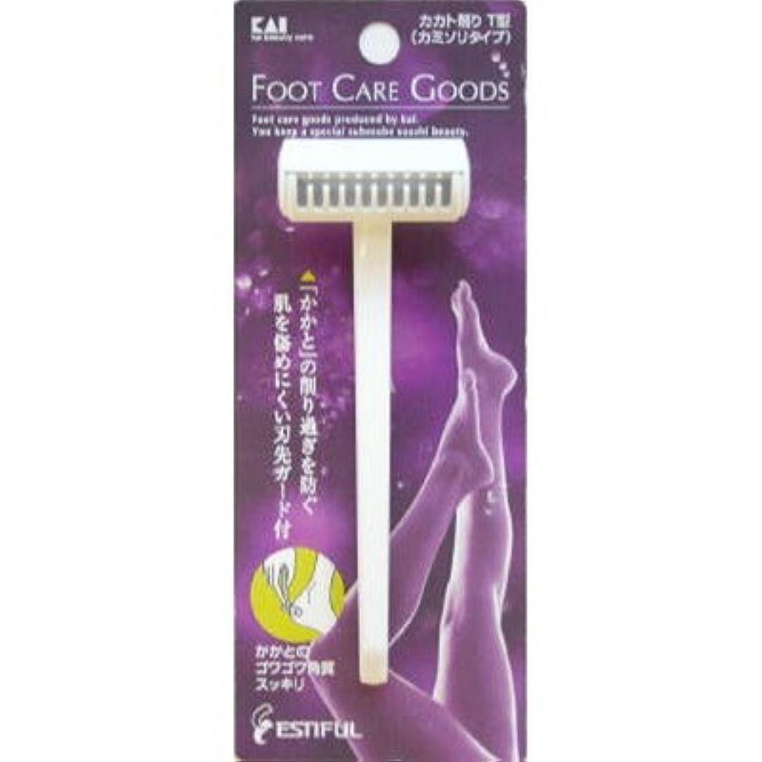 迅速相対サイズ脱走貝印HB0305 カカト削りT型(カミソリタイプ)【6個パック】